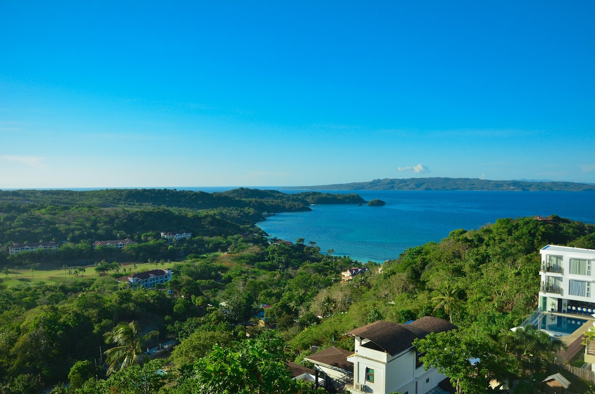 the boracay island view from the top of mt. luho
