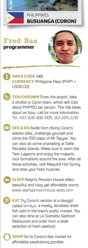 Here's my full blurb about Coron