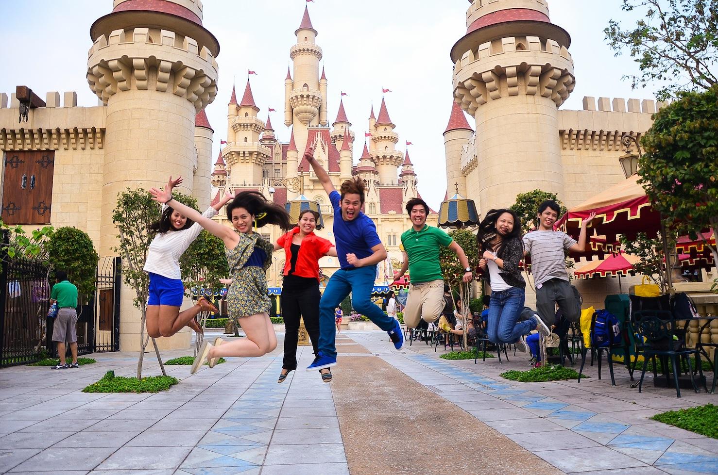 Jump shot behind Fiona's castle